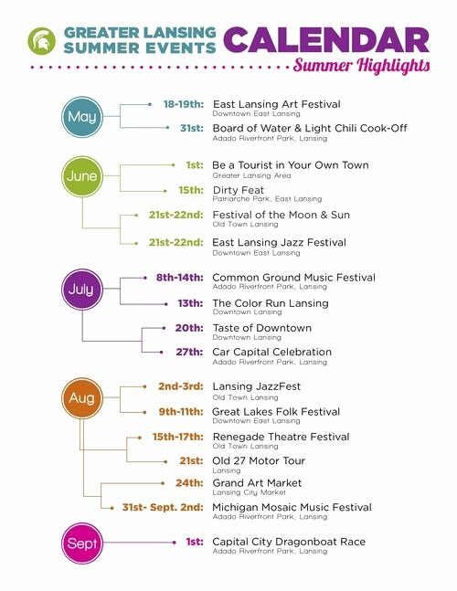 Greater Lansing Summer events Calendar From Tumblr
