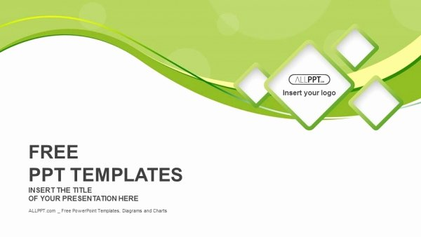 Green Abstract Background and Squares Powerpoint Templates