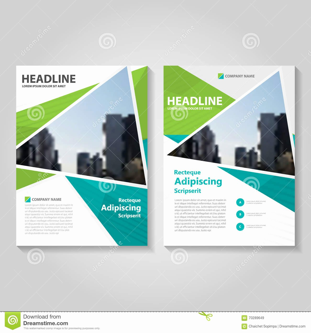 Green Annual Report Leaflet Brochure Flyer Template Design