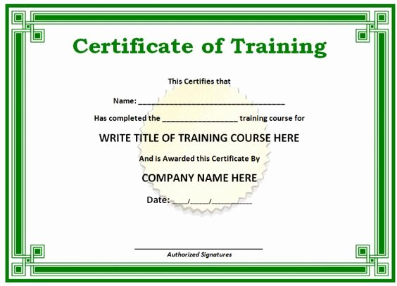 Green Blank Certificate Word Doc Printable