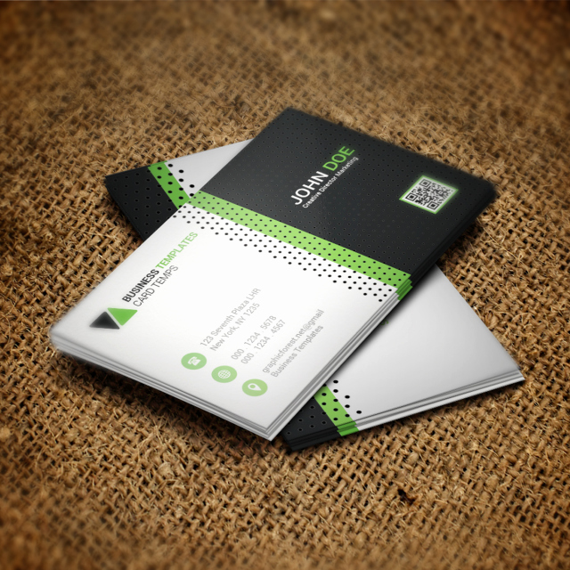 Green Business Card Psd Template Template for Free