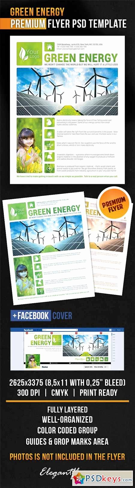 Green Energy – Flyer Psd Template Cover Free