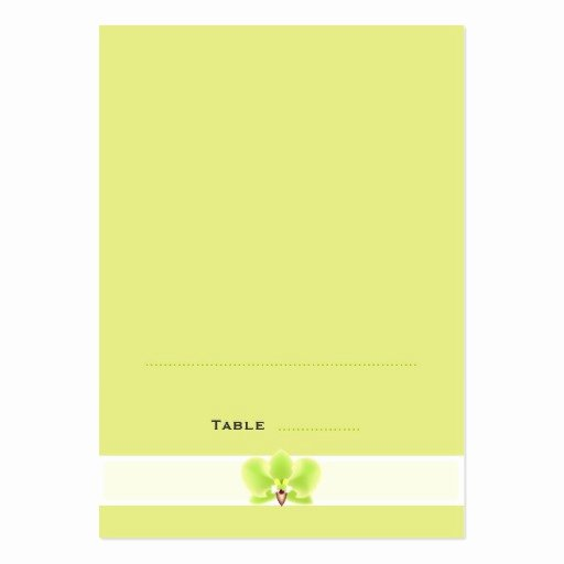 green orchid folded place cards business card