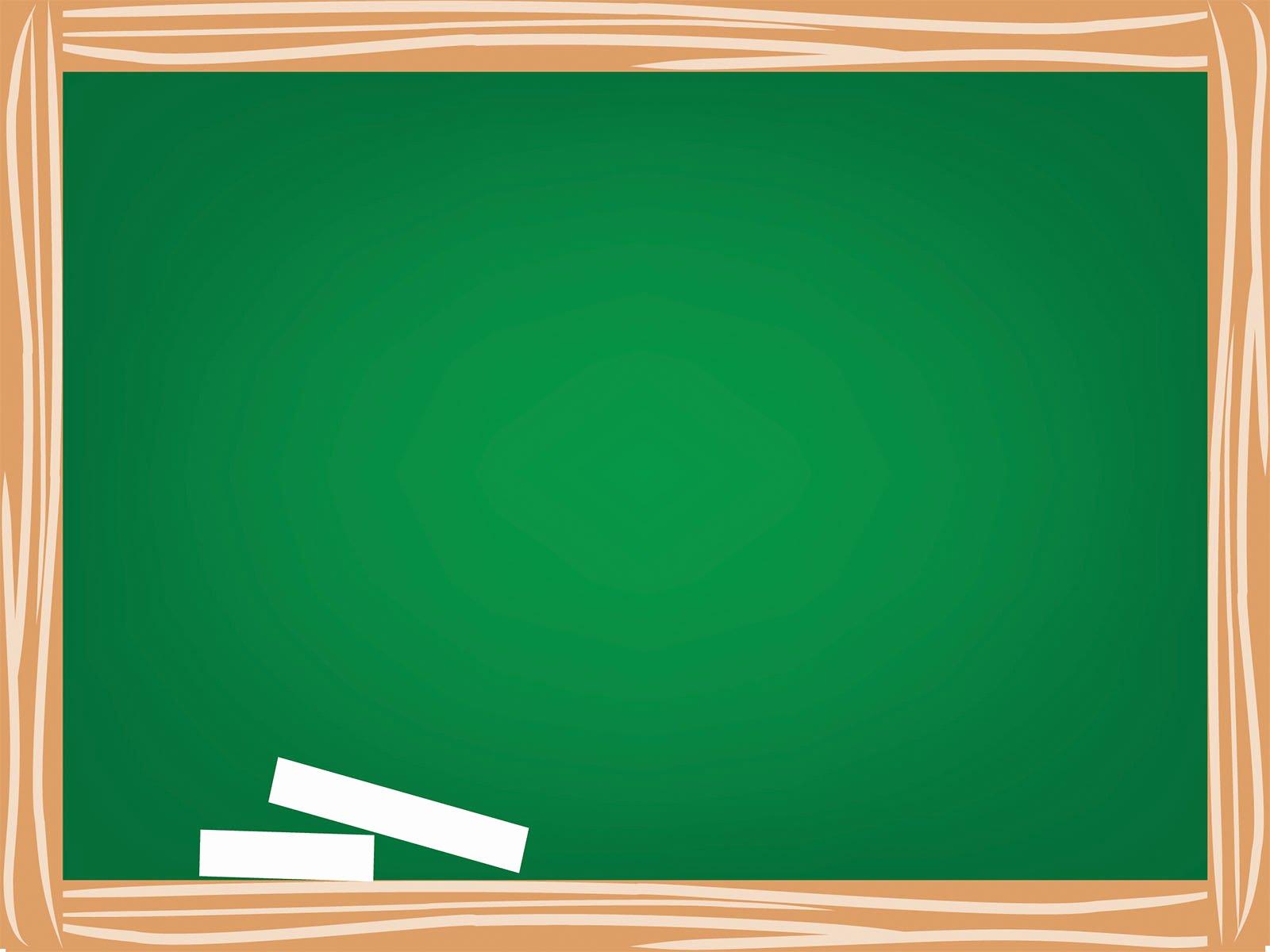 Green School Board Powerpoint Templates Education Free