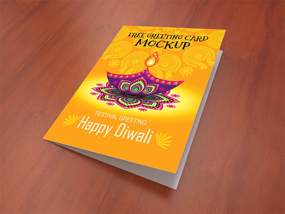 Greeting Card Mockup Free Psd Template Download Psd
