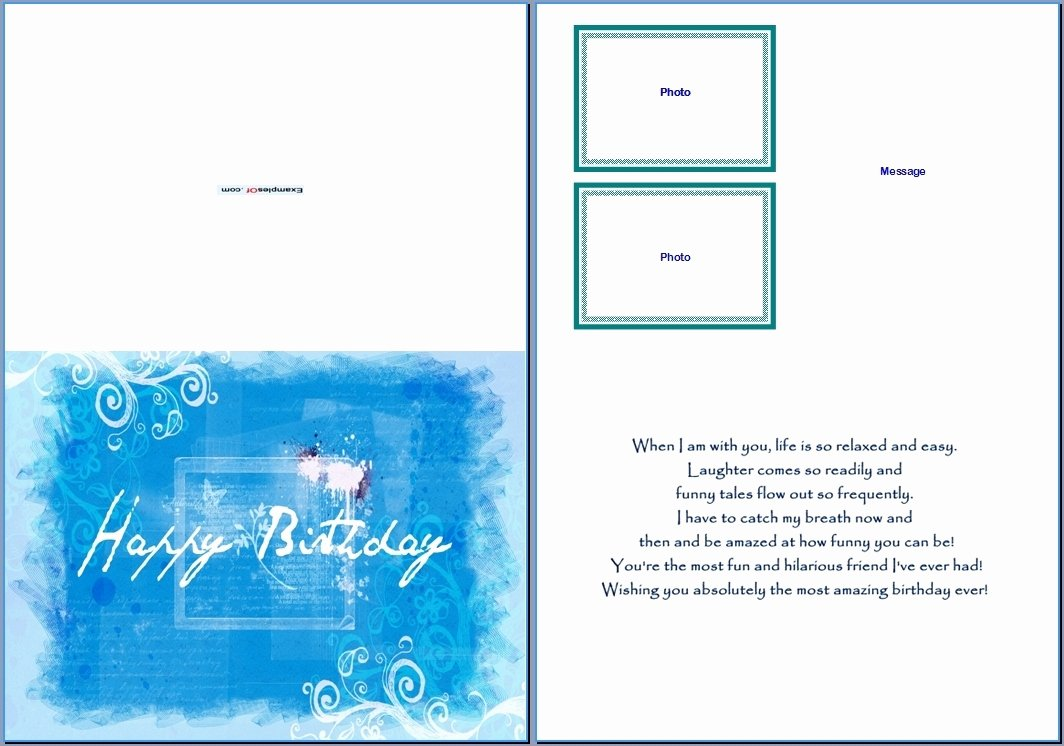 Greeting Card Template Word Beepmunk