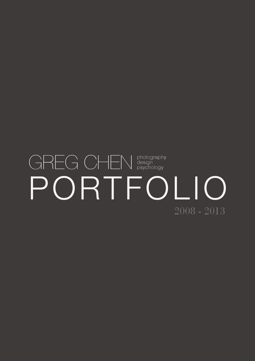 Greg Chen Design Portfolio 2013 by Greg Chen issuu