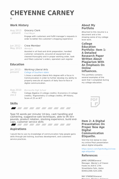 Grocery Store Resume Examples Cover Letter Samples