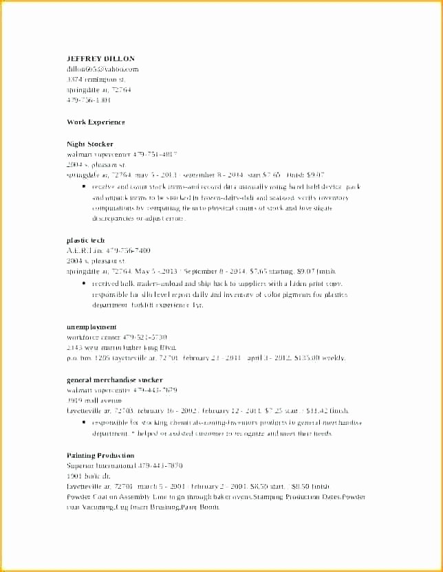 Grocery Store Resume – Mkmafo