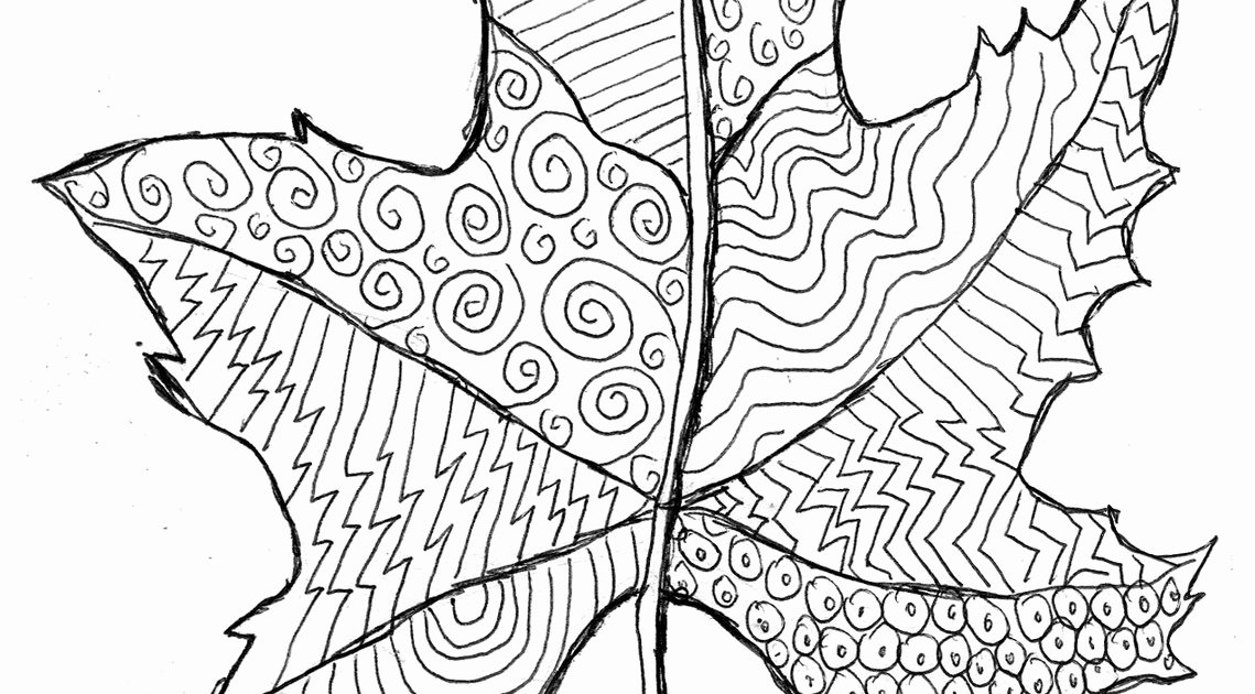 Grovecrest Art Fall Leaf Line Drawing