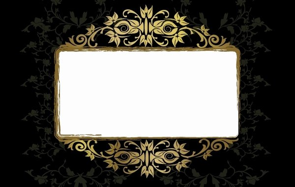 Grungy Vintage Floral Frame Template Vector