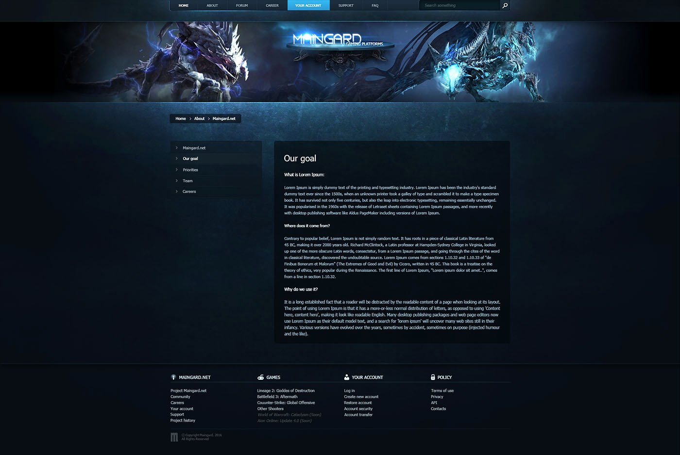 Guard Game Platform Web Template