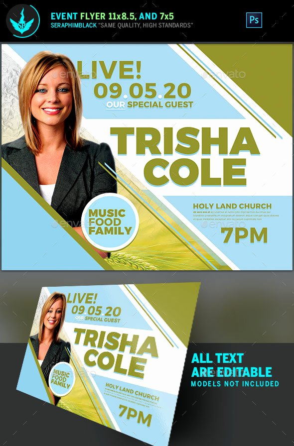 guest speaker for church flyer template