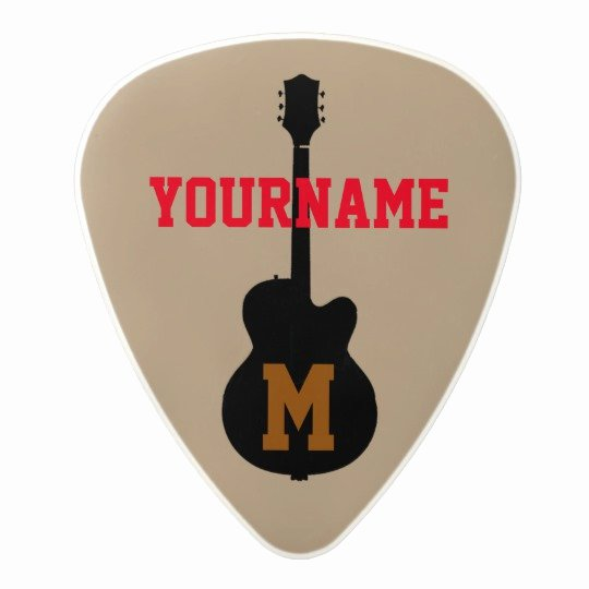 Guitar Pick Personalised with Name Polycarbonate Guitar