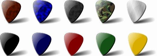 Guitar Pick Set Clip Art Free Vector In Open Office