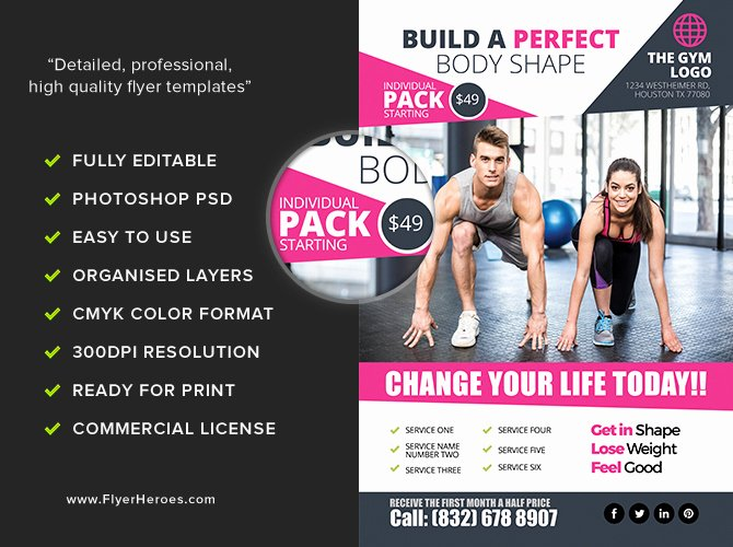 Gym Flyer Template 2 Flyerheroes