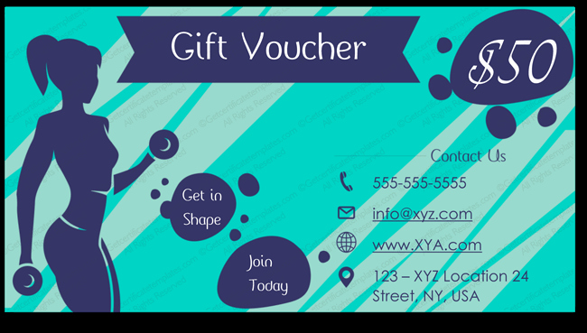 Gym Gift Certificate Template Tcard Tcertificate