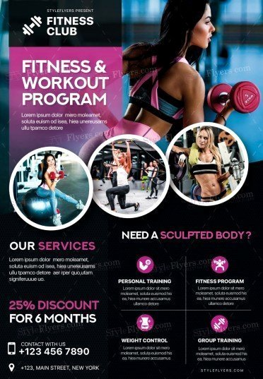 Gym Psd Flyer Template Styleflyers