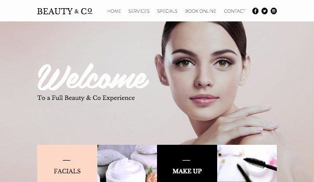 Hair & Beauty Website Templates Fashion & Beauty