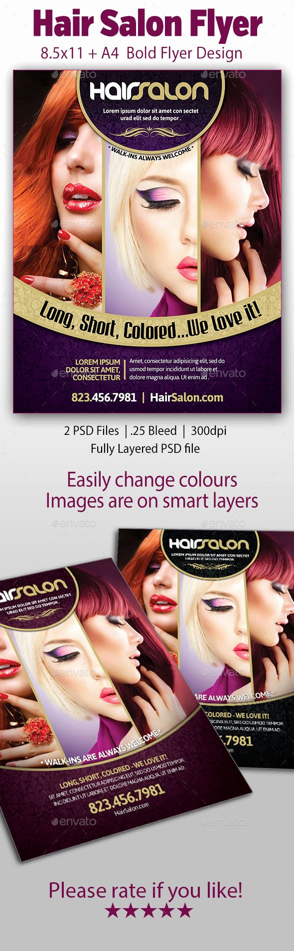 Hair Salon Flyer Free File Designer