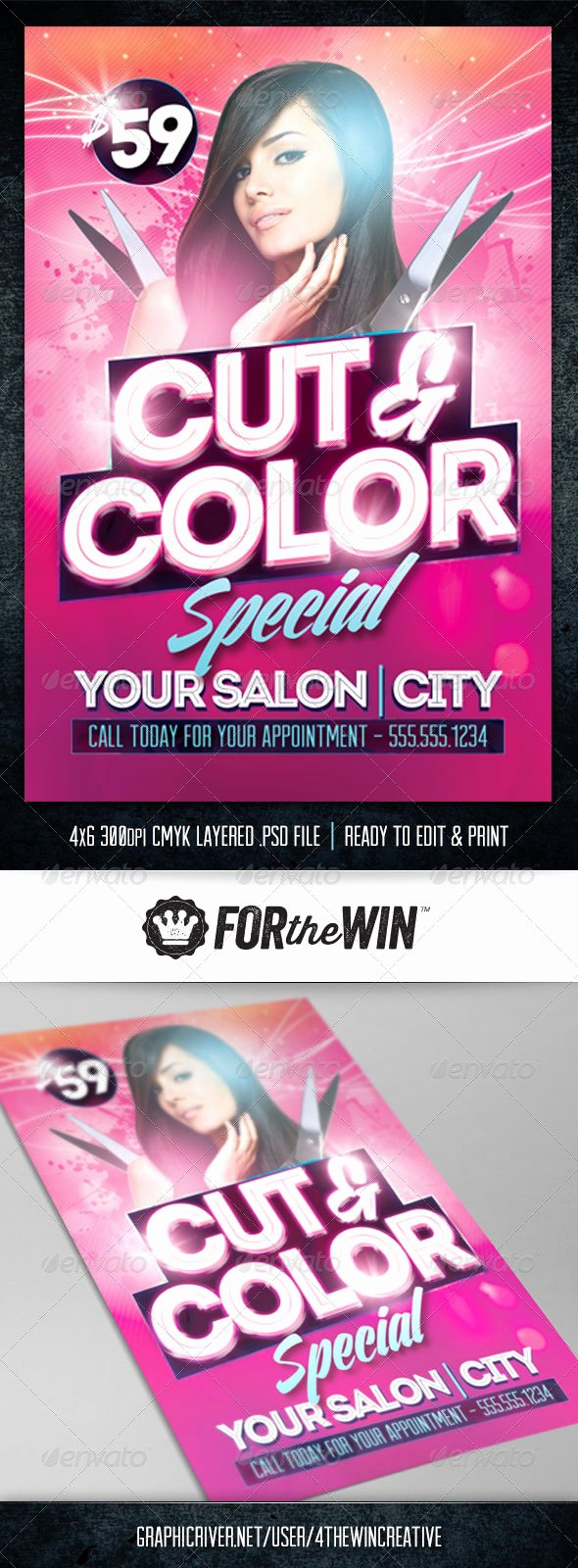 Hair Salon Flyer Template by 4thewincreative