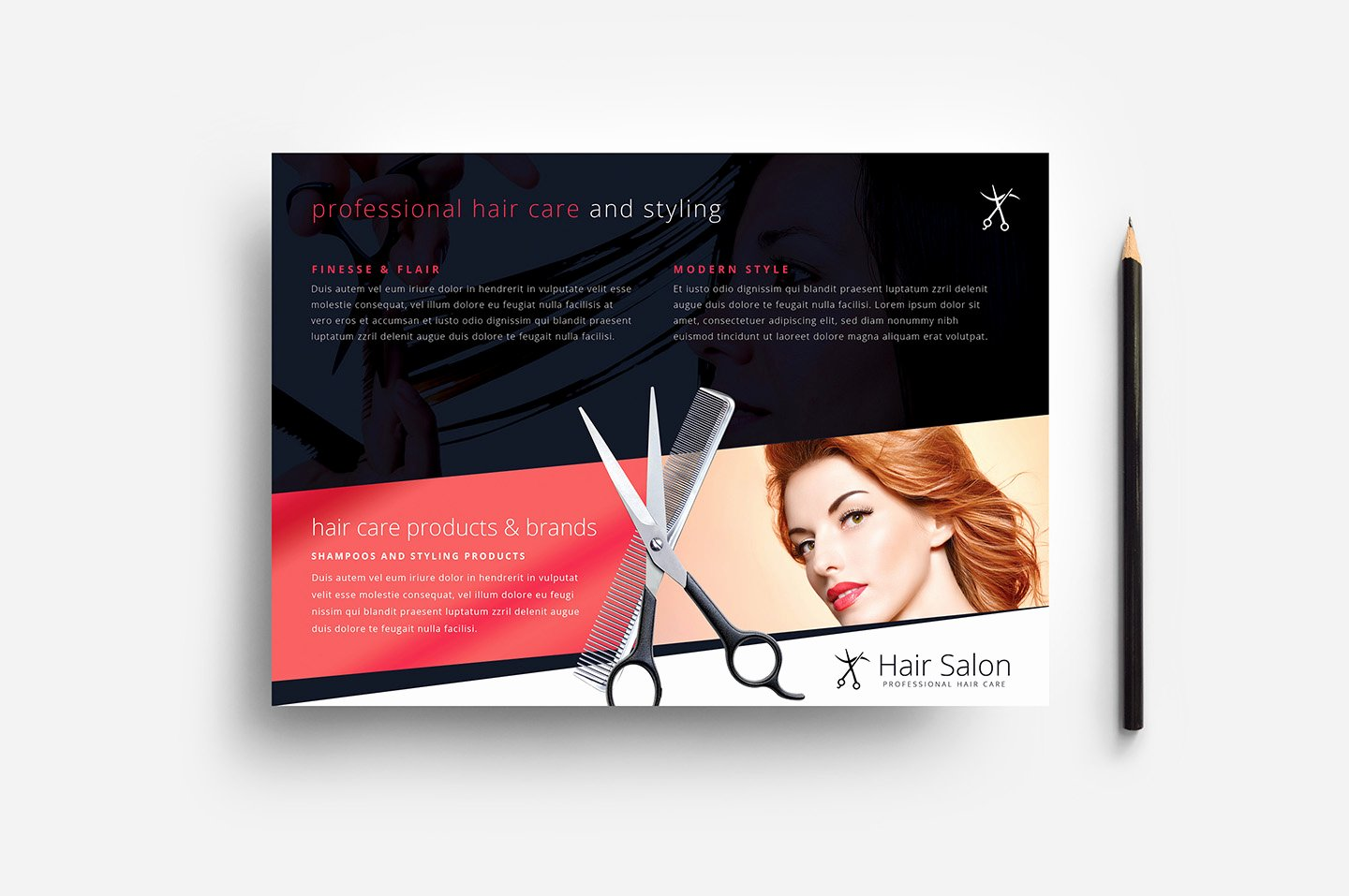 Hair Salon Flyer Template In Psd Ai & Vector Brandpacks
