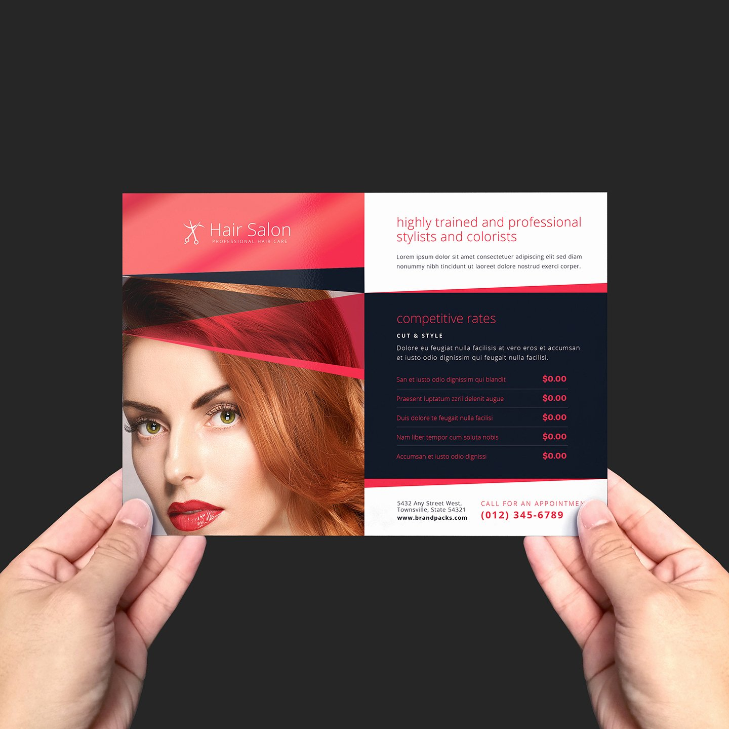 Hair Salon Flyer Template V2 Brandpacks