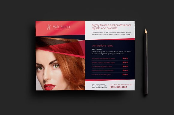 Hair Salon Flyer Template V2 Flyer Templates Creative