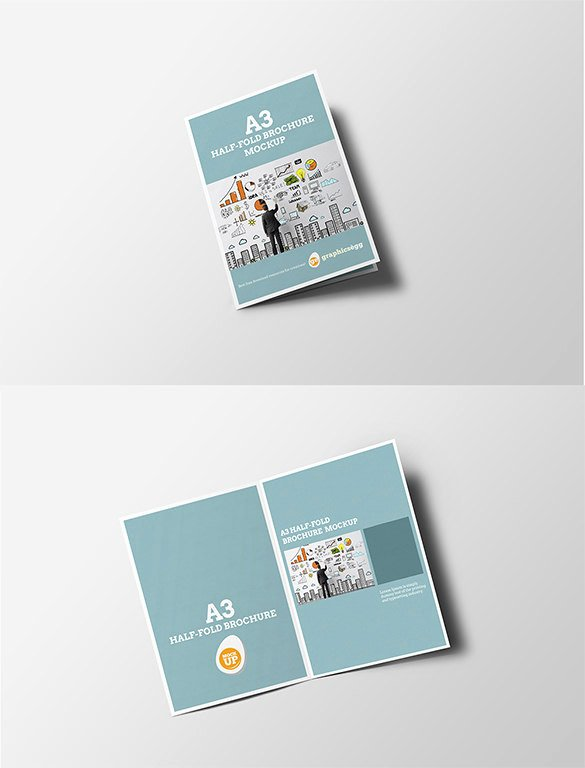 Half Page Brochure Template Create Flyers Quarter P and