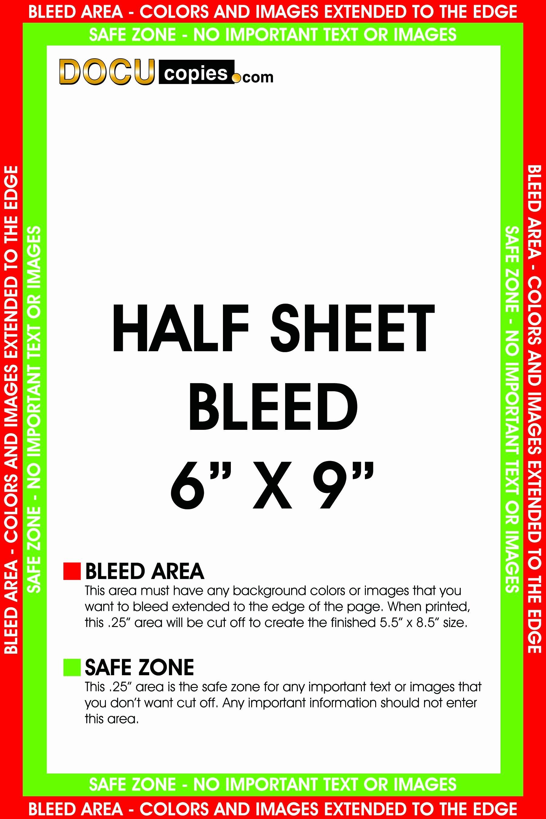 Half Page Brochure Template Half Sheet Flyer Template