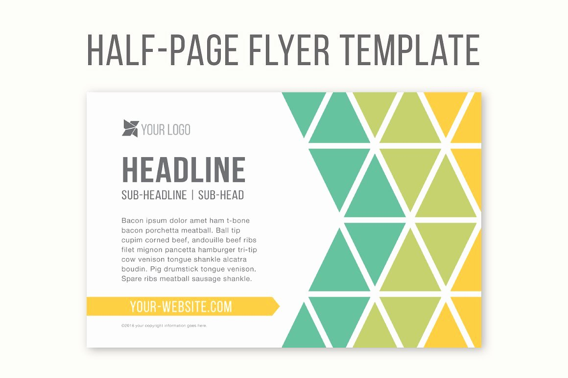 Half Page Flyer Template Templates Creative Market