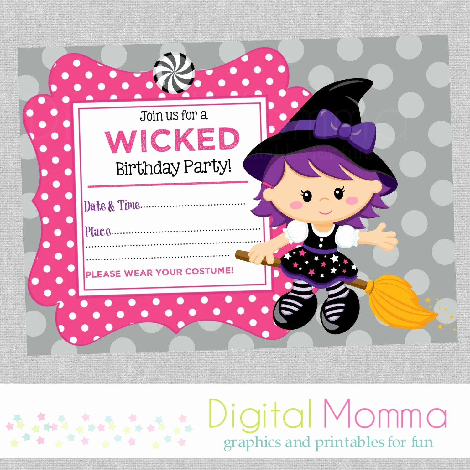 Halloween Birthday Party Invitations