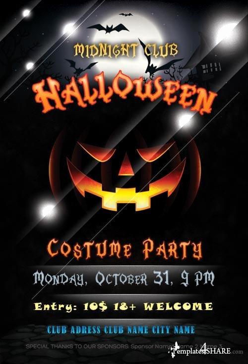 Halloween Flyer Psd Template Templates4share Free