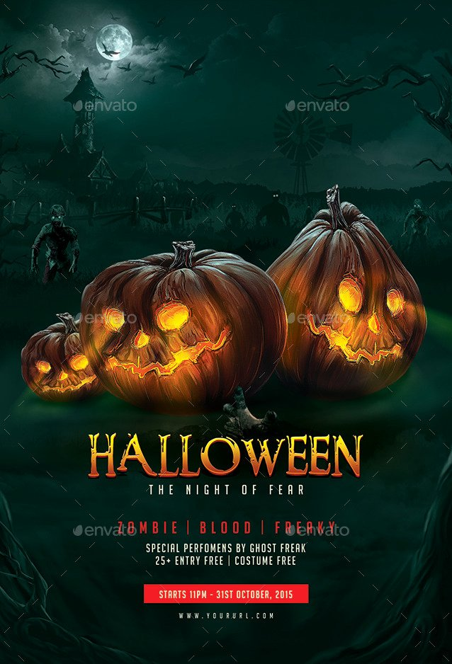 Halloween Flyer Template by Doto
