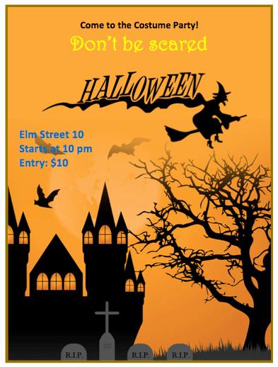 Halloween Flyer Template orange theme Free Flyer Templates