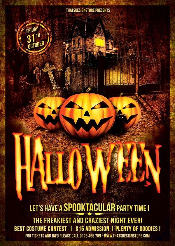 Halloween Flyers Templates Invitation Template