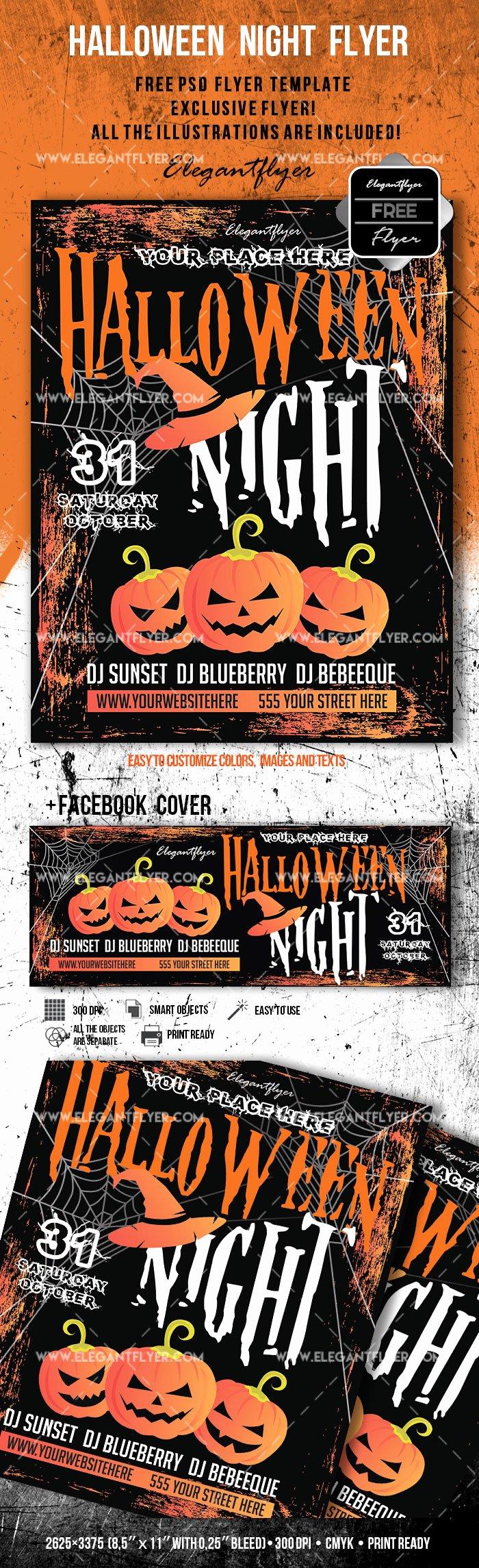 Halloween – Free Flyer Psd Template – by Elegantflyer
