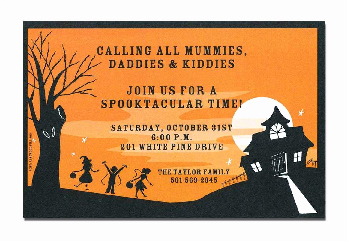 Halloween Invitation Cards Free Printable – Festival
