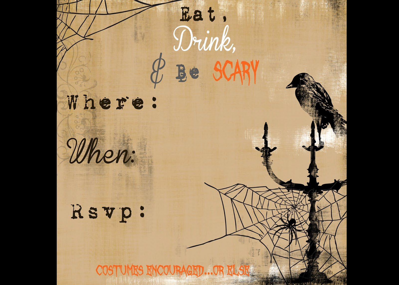 Halloween Invitation Free – Festival Collections