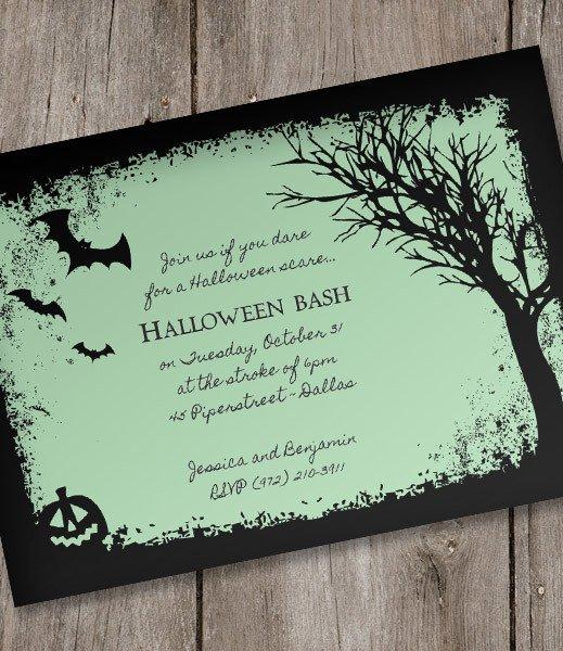 Halloween Invitation Template – Spooky Woods – Download