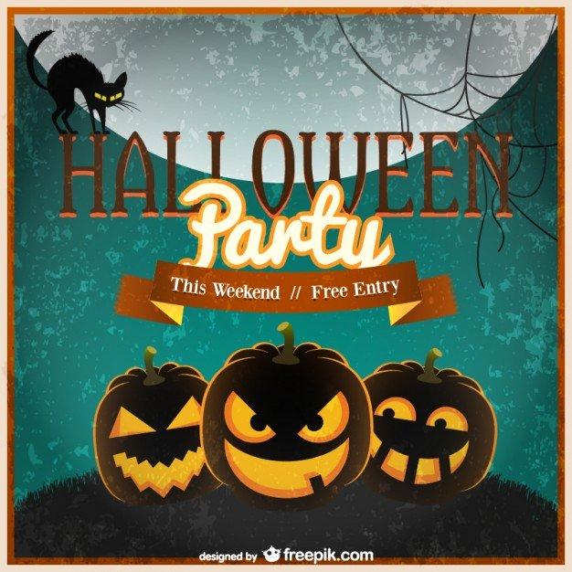 Halloween Invitation Template Vector Vector