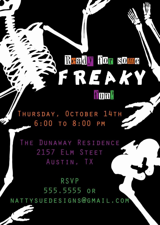 Halloween Invitation Wording Template