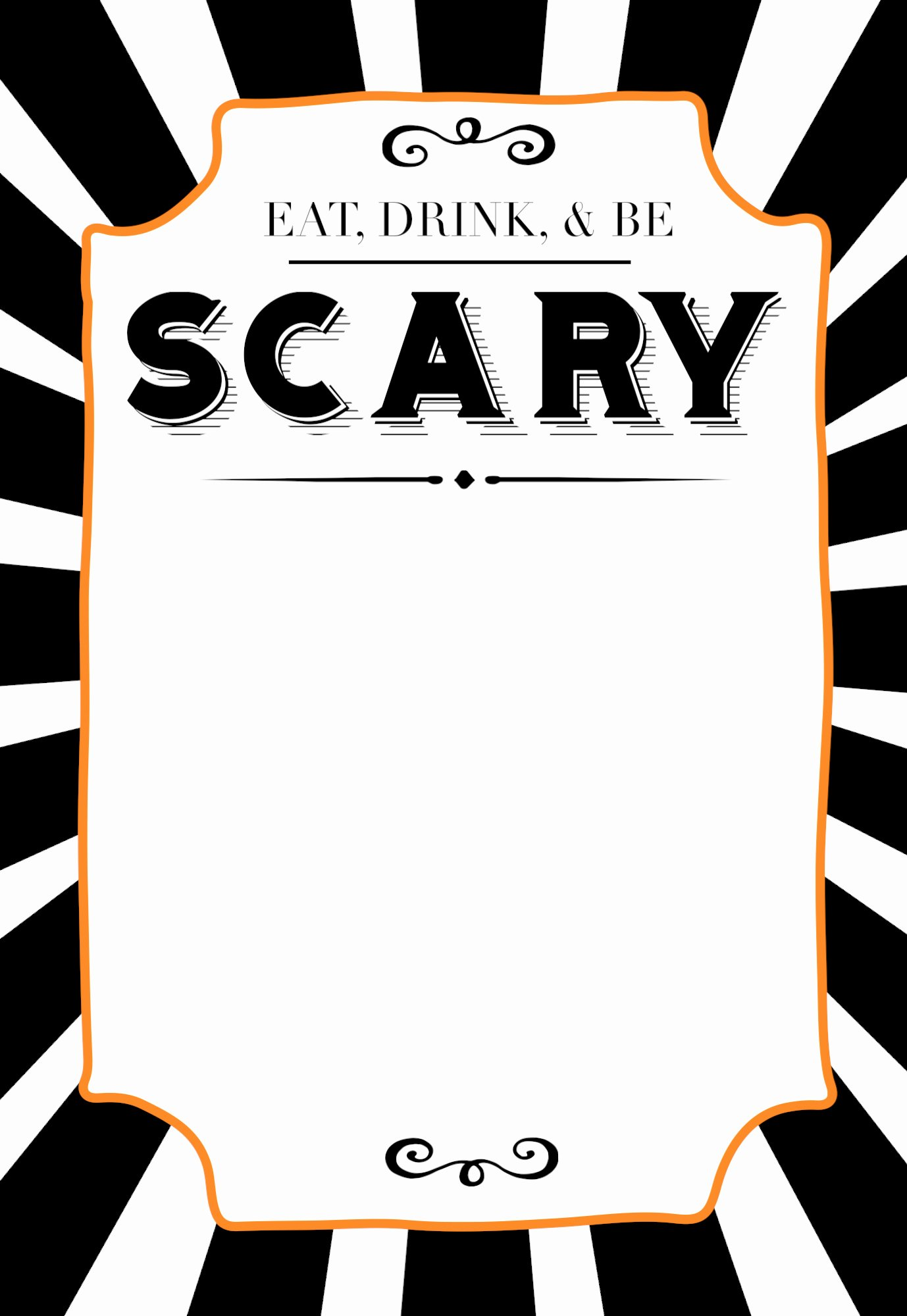 Halloween Invitations Free Printable Template Paper