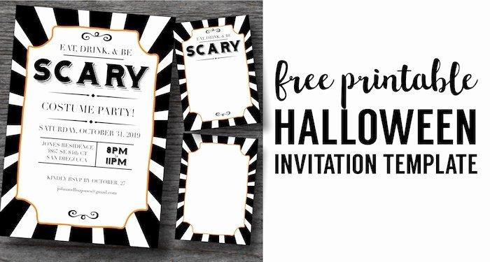 Halloween Invitations Free Printable Template Paper