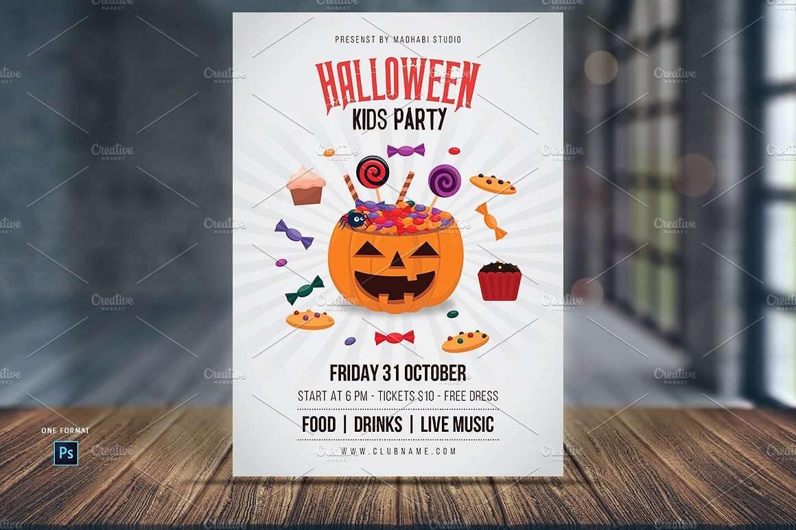 Halloween Kids Party Flyer Template Flyer Templates