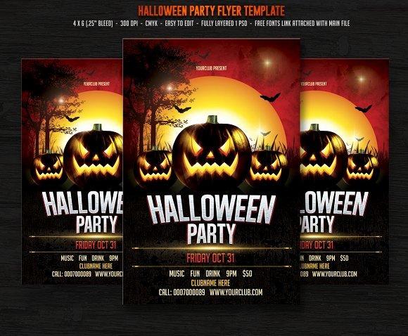 Halloween Party Flyer Templates On Creative Market