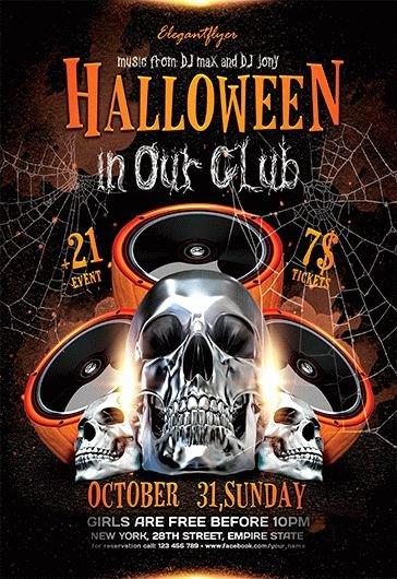 Halloween Party – Free Flyer Psd Template – by Elegantflyer