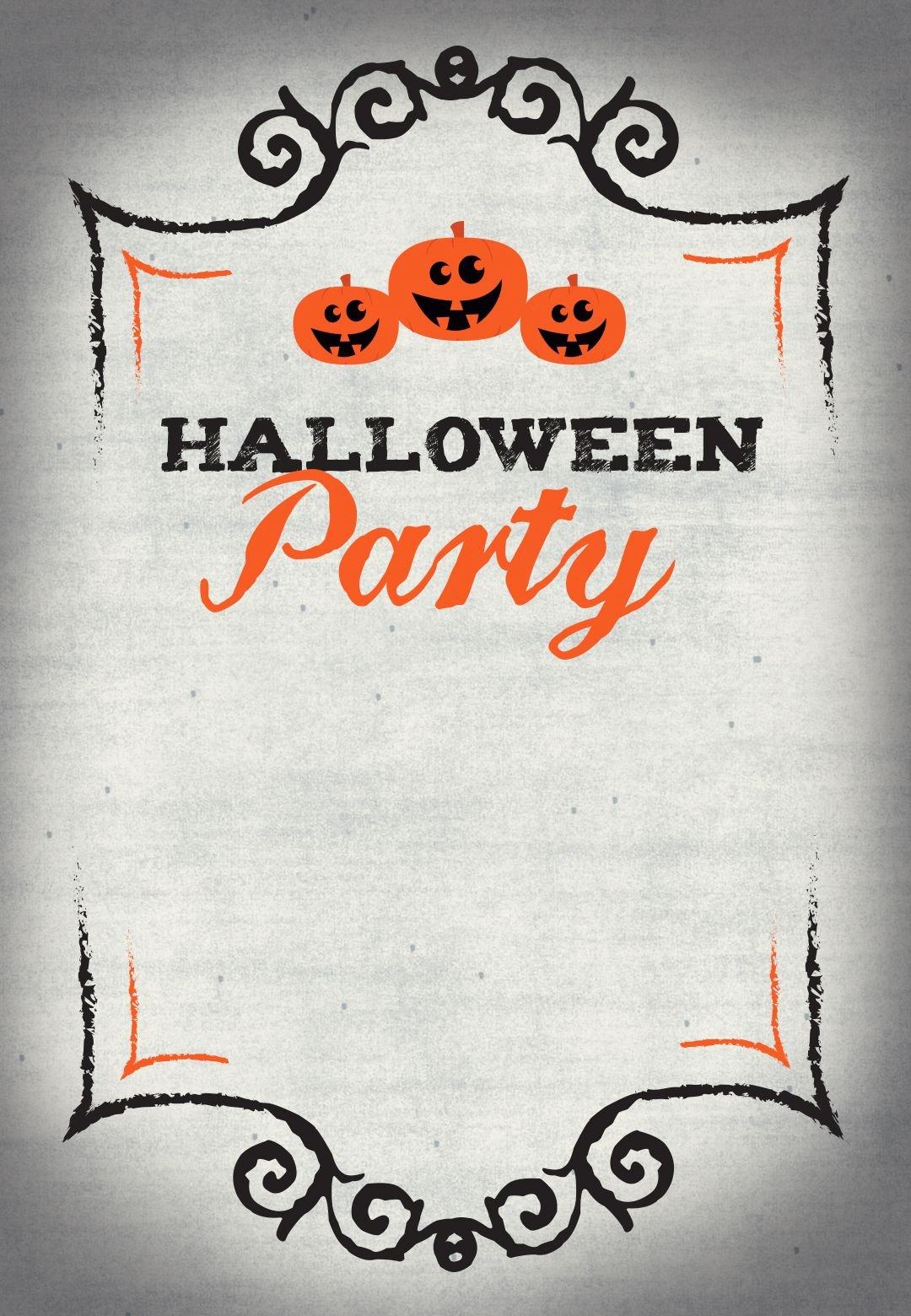 Halloween Party Free Printable Halloween Invitation