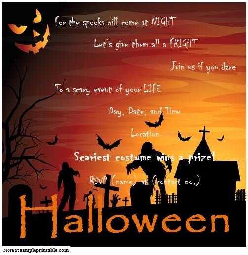 Halloween Party Invitation Printable Halloween Party