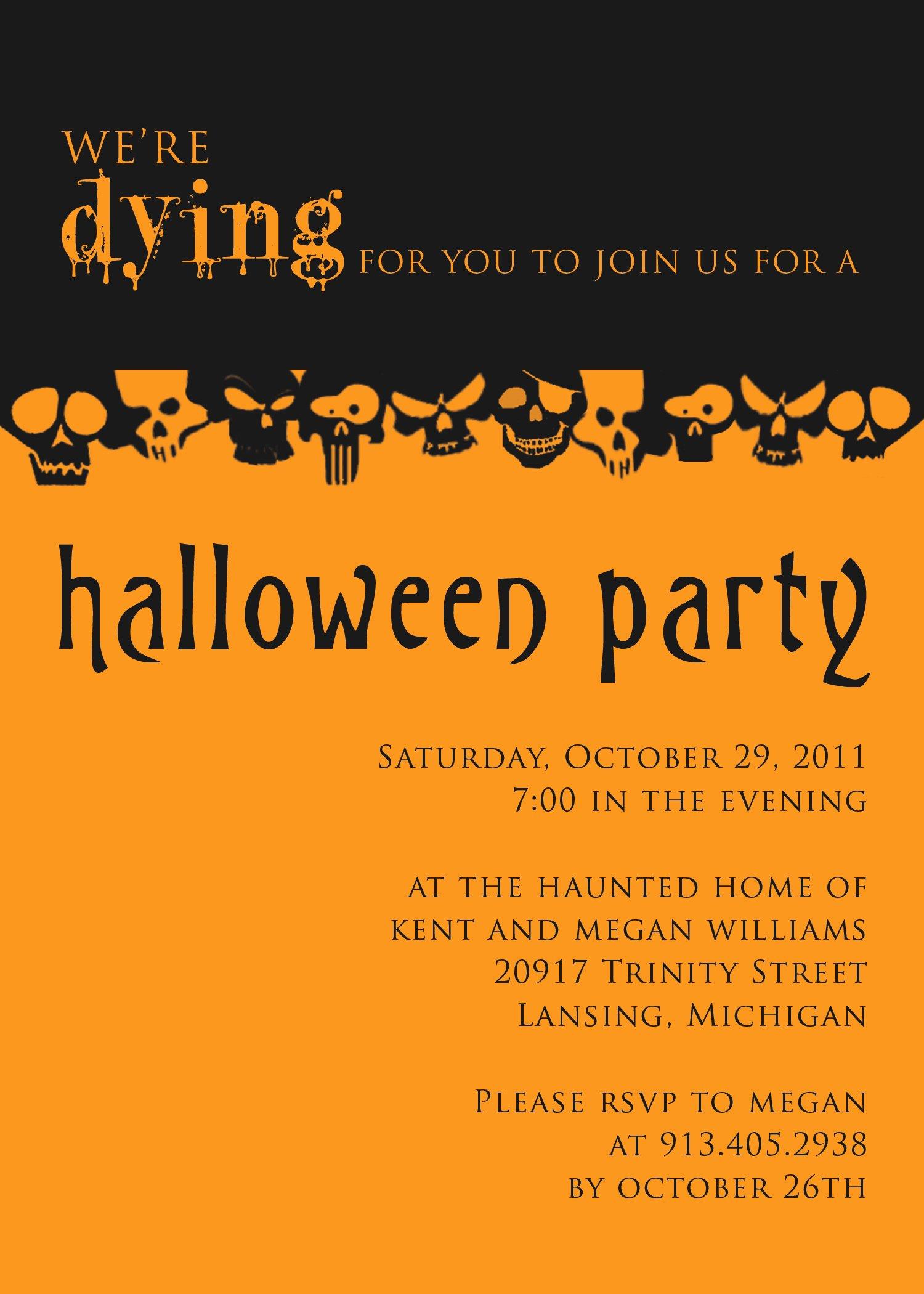 Halloween Party Invitation Templates Free – Festival